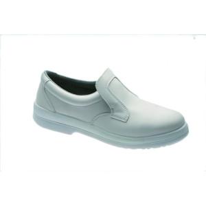 Comprar Zapato Profesional cuero blanco Punta de Acero