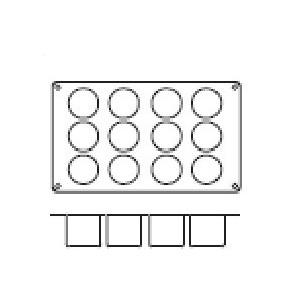 Molde de Silicona con Forma de 12 Cilindros