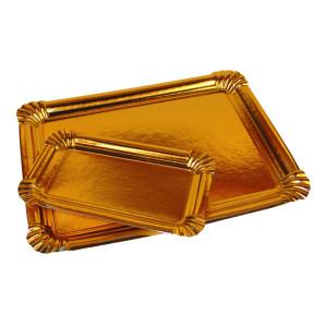 Comprar Bandeja cartón Oro (50 ud)