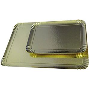 Comprar Bandejas de Cartón Plateada con reverso Dorado (25 ud)