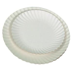 Comprar Plato cartón Blanco Antigrasa (100 ud)