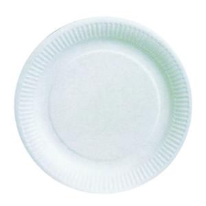 Comprar Plato Cartón Blanco Biodegradable (100 ud)
