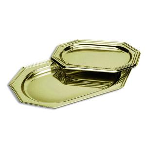 Comprar Bandeja Plastico Oro Octogonal