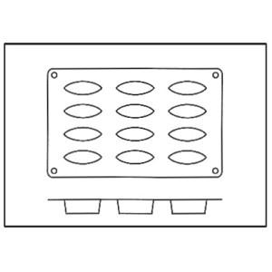 Molde de Silicona con Forma de 12 Barquitas