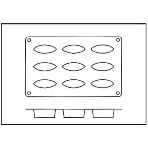 Molde con Forma de 9 Barquitas de Silicona