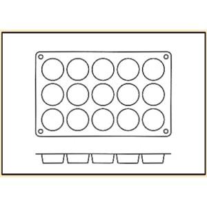 Molde con Forma de 15 Flanes de Silicona