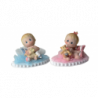 Decoraciones para Tartas con Bebés Mimitos y Base de Tul