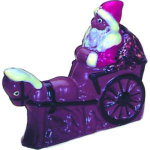 Molde de Policarbonato Papa Noel en Coche de Caballos