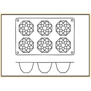 Molde con Forma de 6 Diamantes de Silicona