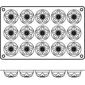 Molde de Silicona con Forma de 15 Narcisos