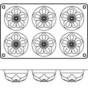 Molde de Silicona para 6 Narcisos