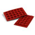 Comprar Molde de Silicona con Forma de 24 Savarín en Corazón Profesional