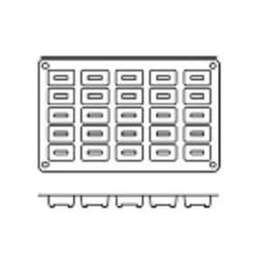 Molde para 24 Savarín Rectangulares de Silicona