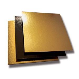 Comprar Bandejas de Cartón Doradas/Negro Cuadradas (50 ud)