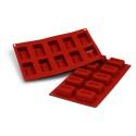 Comprar Molde de Silicona con Forma de 10 Savarín Rectangulares Profesional