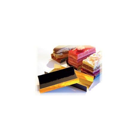 Comprar Bandejas con Pliegues Oro/Negro Rectangulares