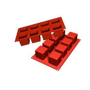 Molde de Silicona con Forma de 8 Cubos