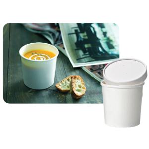 Comprar Vasos de cartón con tapa para bebidas calientes (25 ud)