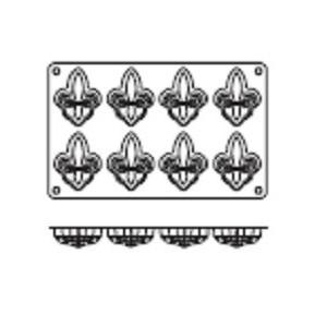 Molde de Silicona con Forma de 8 Flores de Lis