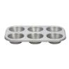 Placa 6 Moldes Muffins Antiadherente