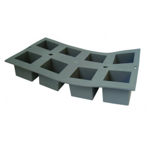 Molde de Espuma de Silicona con Forma de 8 Cubos