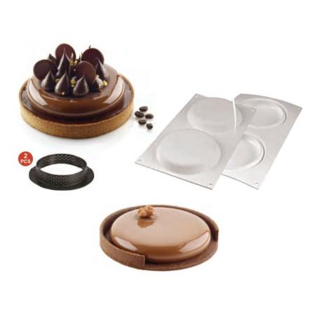 Comprar Kit 2 Tartaletas y Molde Silicona Redondo