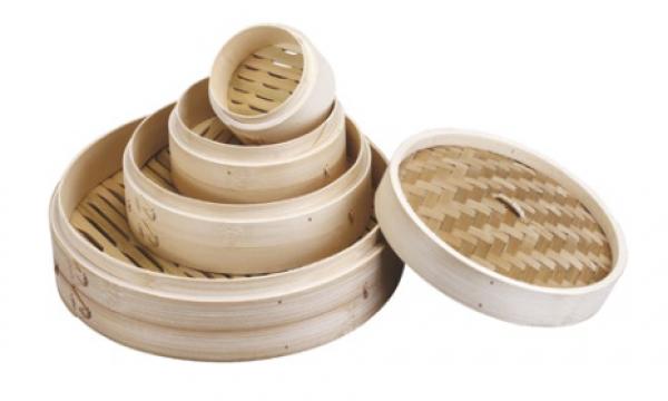 Venta de Vaporera de Bambú Redonda