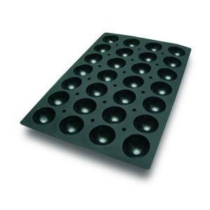 Molde con Forma de 28 Semi Esferas de Silicona