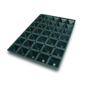 Molde de Silicona con Forma de 35 Pirámides