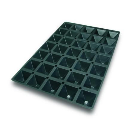 Comprar Molde de Silicona con Forma de 35 Pirámides