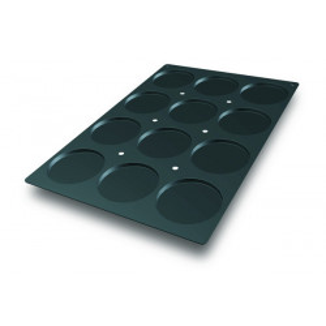 Molde para 12 Discos de Bizcochos de Silicona