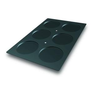 Molde de Silicona con Forma de 6 Discos para Bizcochos