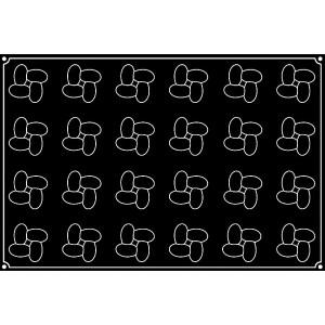 Molde de Silicona Pavoflex para 24 Hélices