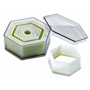 Comprar Caja de 9 Cortadores de Masa Hexagonales