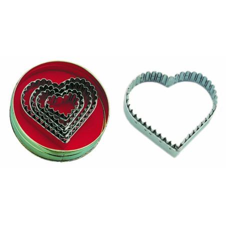 Comprar Caja de 5 Corta-Pastas con Forma de Corazón Acanalado