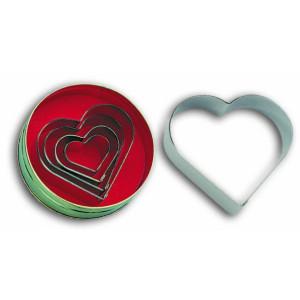 Comprar Caja de 5 Corta-Pastas con Forma de Corazón Liso