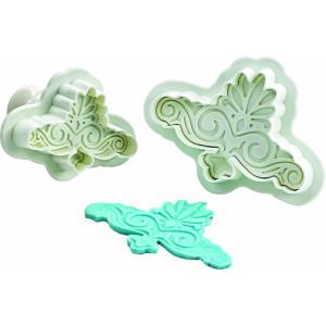 Conjunto 2 corta pastas con forma de voluta decorativa