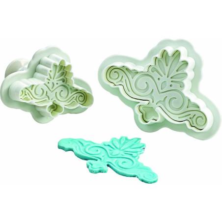 Comprar Conjunto 2 corta pastas con forma de voluta decorativa