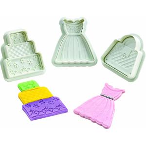 Cortadores para decoración de tartas kit moda