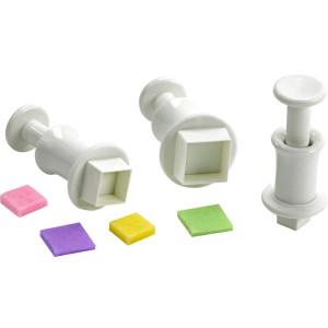 Comprar Lote de 3 corta pastas con formas de cuadrados y expulsor
