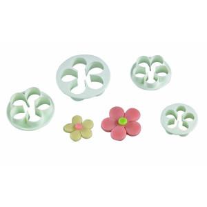 Lote de 4 Cortamasas con Forma de Flor