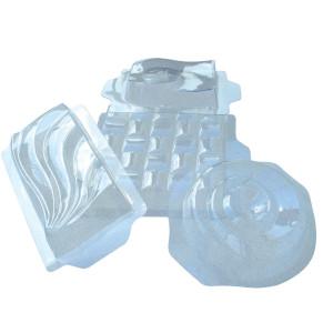 Molde Rectangular con Pequeña Ondulaciones de Plástico Semirrígido