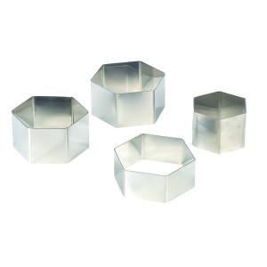Comprar Molde Inoxidable de Forma Hexagonal Alto 4.5 cm