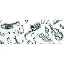 """Comprar Papel Pre-Impresión """"Instrumentos de Música Cacao"""" Profesional"""