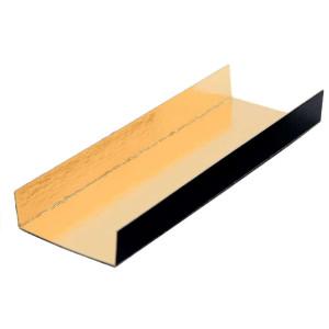 Comprar Bandejas con Pliegues Oro/Negro Rectangulares (200 ud)