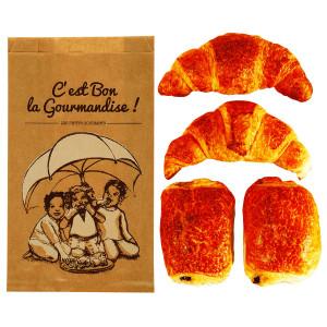 Comprar Bolsa papel kraft para Croissants