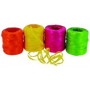 Comprar Rafia Sintética en Color Flúor