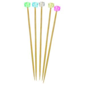 Comprar Brocheta de Bambú con Adorno brillante (100 ud)