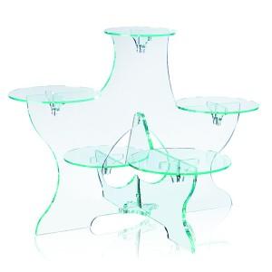Comprar Expositor de Cristal de 5 Platos Annick