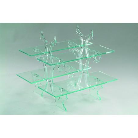 Comprar Expositor Rectangular de Cristal 4 Pisos